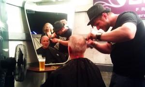 Markus beim Frisör