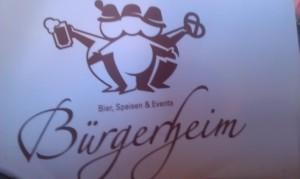 Speisekarte Bürgerheim