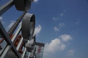 Blick auf den Schornstein, PowerstationofArt, Shanghai