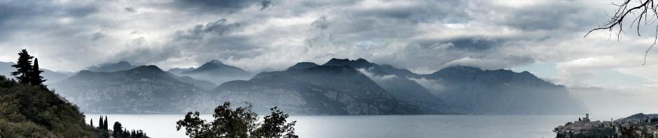 Blick auf das Gardasee-Westufer, ca. 15 Uhr