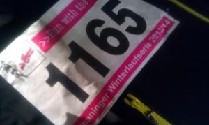 Meine Startnummer Ismaninger Winterlaufserie 2013/13