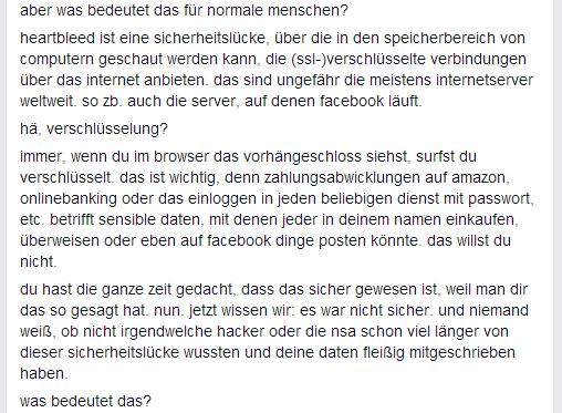 Heartbleed Erklärung von Michael Seemann auf Facebook