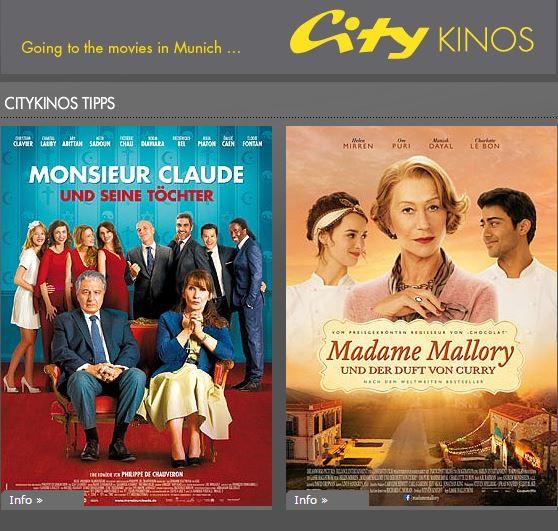 Ankündigung auf der Webseite der City-Kinos