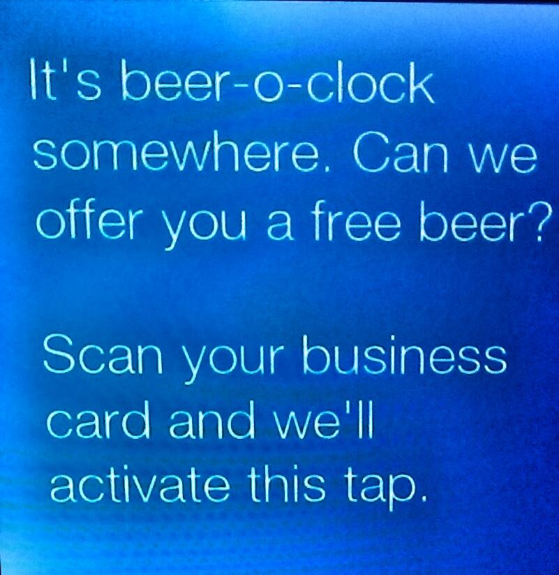 Soweit kommts: Bier gegen Karte...