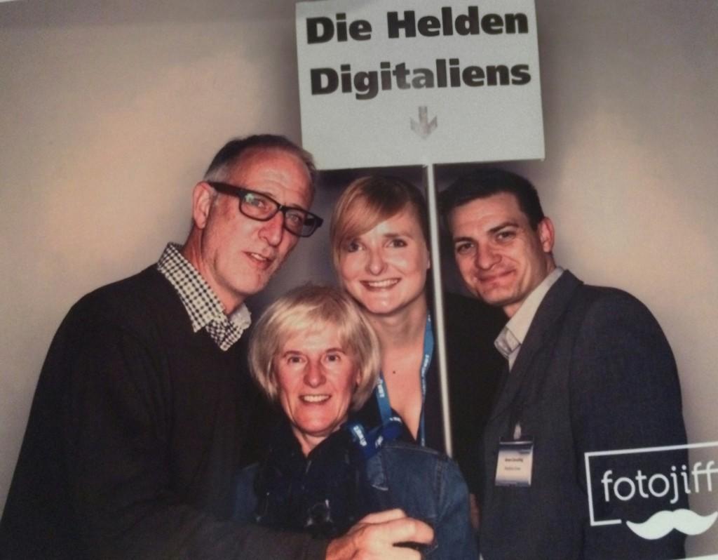 Auf der #party23 von iBusiness: Ulrike Meinhardt (unten ;-), Sonja und Matthias Greye (Greye Consulting) und  ich
