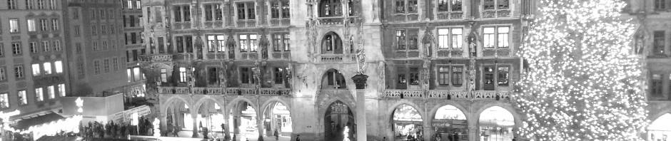Blick aus dem Presseclub auf den Christkindlmarkt München