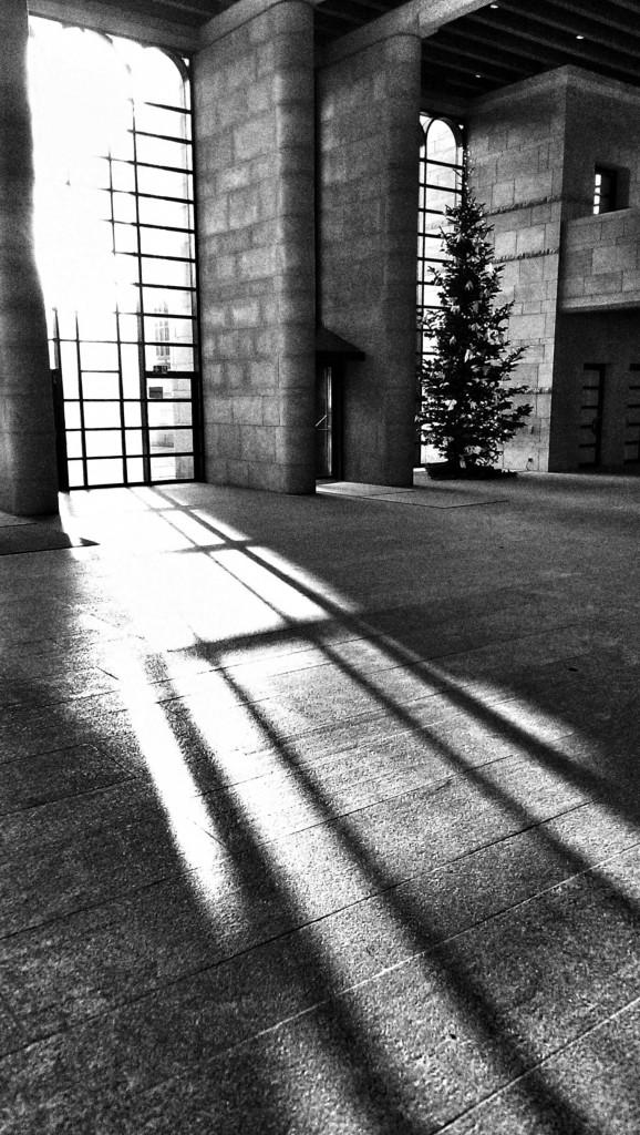 Eingangshalle der Neuen Pinakothek am Samstag, 13.12.