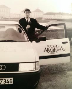 Mein erster Dienstwagen: Reporterfahrzeug. Zum ersten Termin musste ich noch mit dem Chefauto fahren.