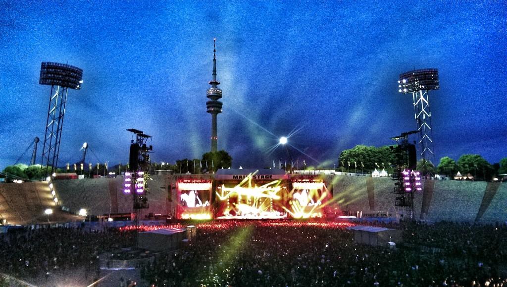 Main Stage bei Rockavaria im Olympiastadion