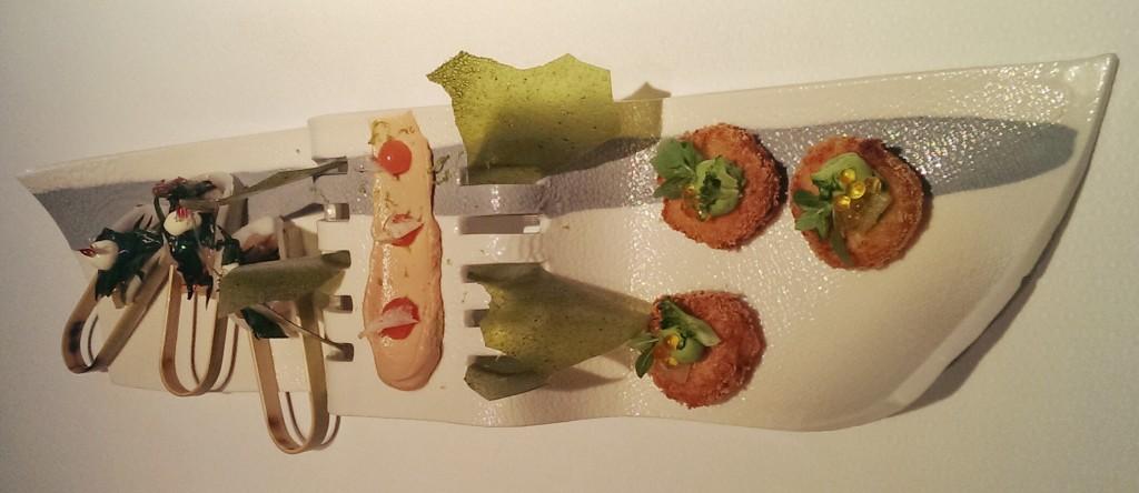 Das Bild gibt nur unzureichend wieder, was geboten wird. Einer der Grüße aus der Küche des Werneckhofes.