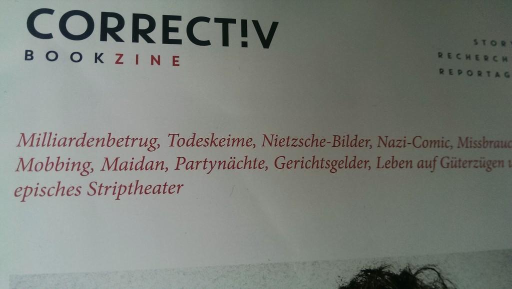 200 Seiten Geschichten, Stories und Bilder: das Bookzine von Correct!v
