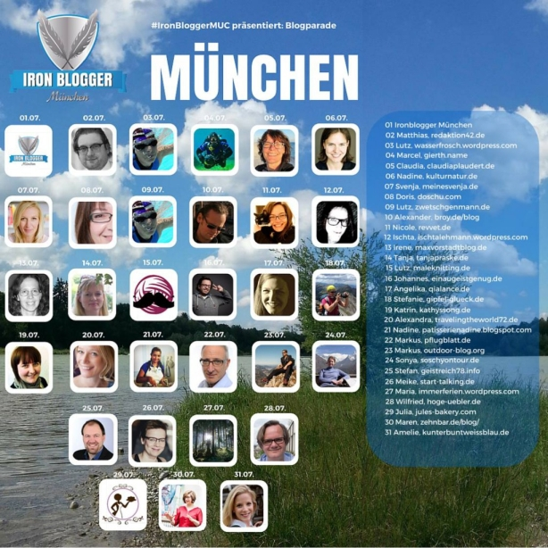 31 Tage, 30 Ironblogger im Juli über München.