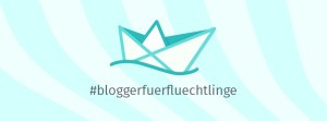Logo der Initiative #BloggerfuerFluechtlinge