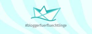 Logo der Initiative #BloggerfuerFluechtlinge