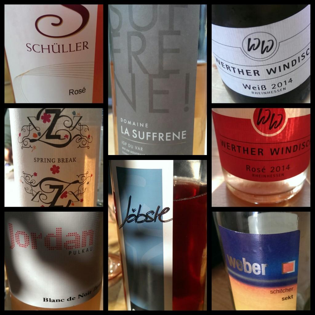 Sommerliche Rosé- und Weißweinprobe mit erstaunlichen Weinen, unerwartet.