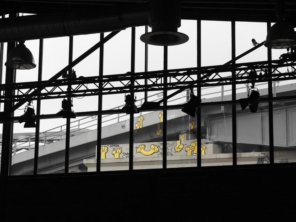 Immer wieder interessante Blicke aus dem Industriebau der Station.