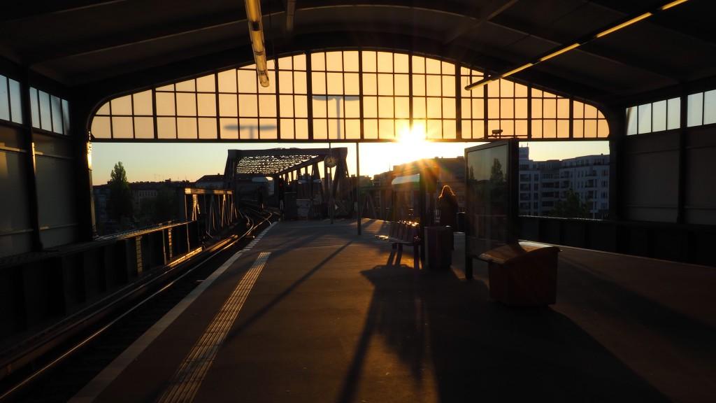 Vier Tage Gleisdreieck und Abschied im Sonnenuntergang. Perfekt.
