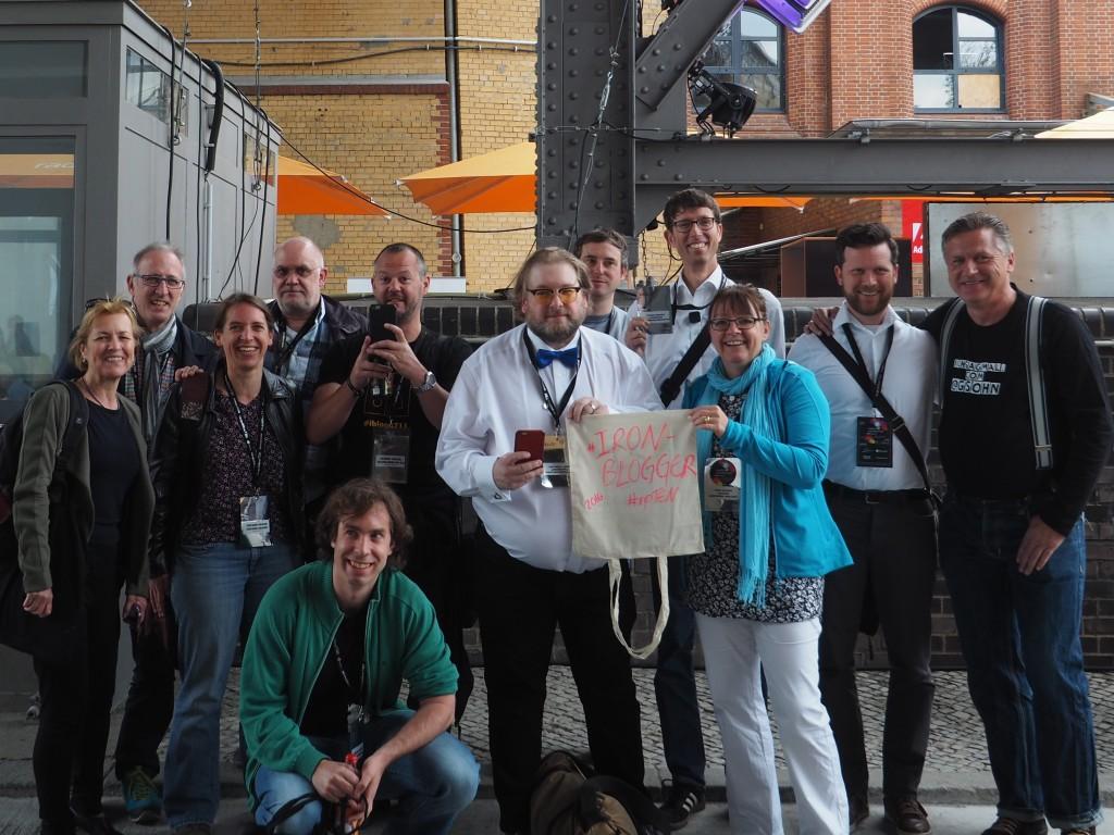 Leider viel zu wenige:  Internationales  Ironbloggertreffen.