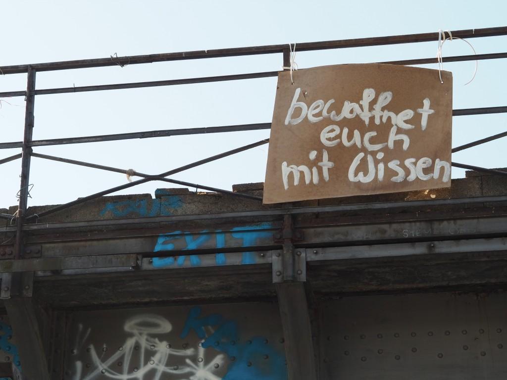 Start am Ostkreuz, das Motto ist schon erkannt.