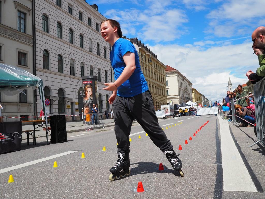 Im Einsatz beim Streetlife Festival in München als sogenannte Reportage-Brennweite: