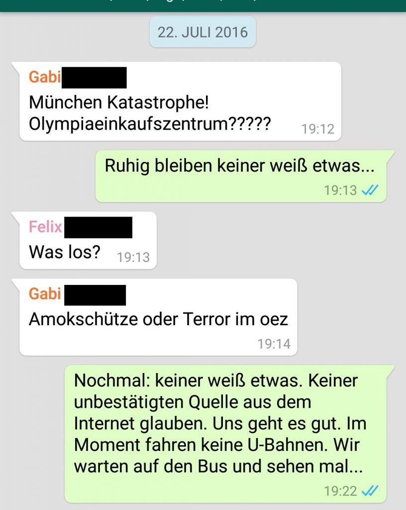 Whatsapp, München, Schießerei