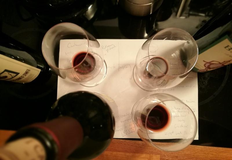 3 Rotweine aus der Toskana und alle zu alt...