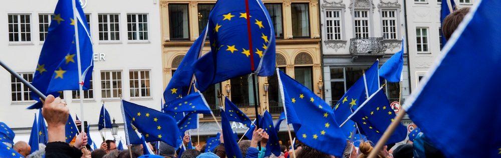 Auf dem Max-Jospehs-Platz in München: wehende europäische Überzeugung bei #PulseofEurope