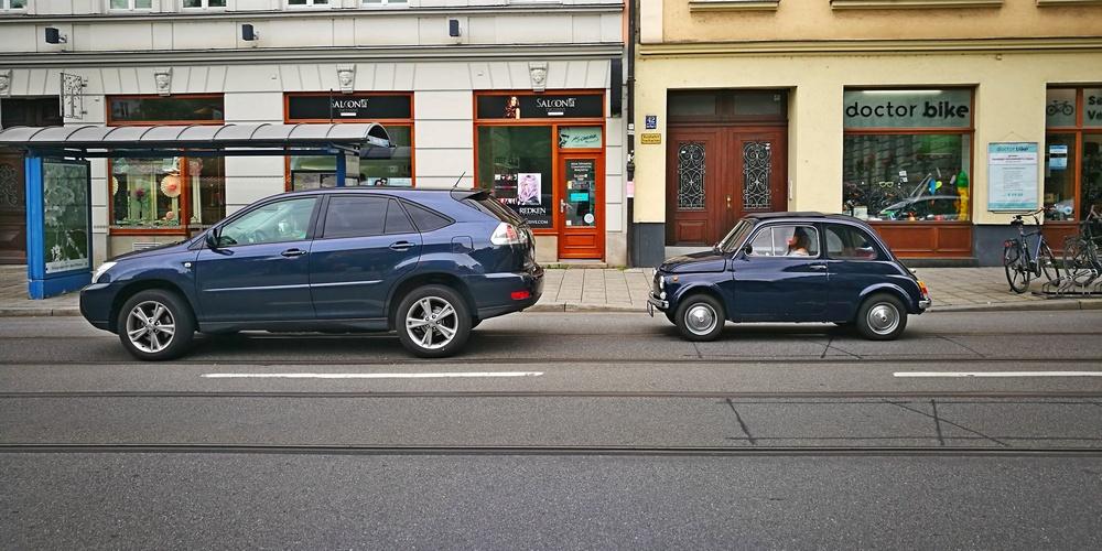 Autovergleich Einst und Jetzt