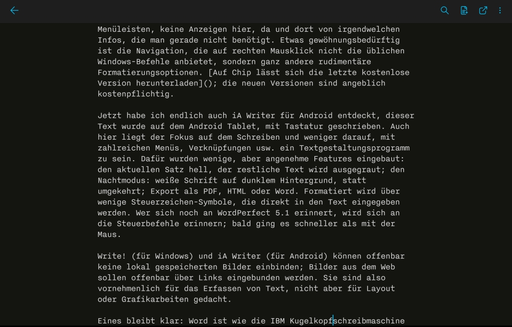 iA Writer für Android