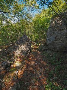 Alte Wege herbstlich beschattet, unterwegs von Malcesine nach Cassone am Gardasee